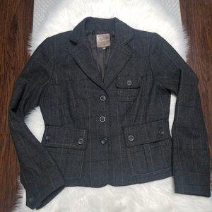 Smart Set   Herringbone Plaid Blazer Jacket Wool